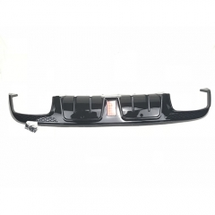 Carbon Fiber Bumper Lip with Light & Exhaust Tip for Mercedes Sports 4-Door Sedan