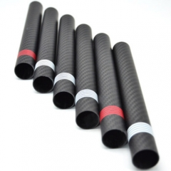 Customized Black Carbon Fiber Round Tube with Silkscreen