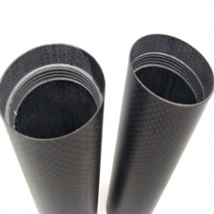 Custom Size Black Carbon Fiber Wide Round Tube